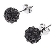 Diamond Ball Stainless Steel Earrings