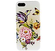 fleur cas dur de modèle pour l'iphone 5/5s