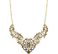 Hollow-Out Carved Designs Alloy Necklace