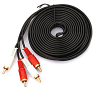 2-2 Interface Cable RCA chapados en oro (5 m)