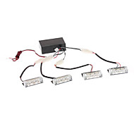 1W 3-LED Yellow Light LED Flash Lamps for Car (4-Pack)