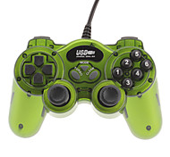 Classic Double Shock 2 USB Wired Controller para PC (verde)