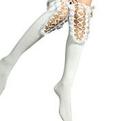 Fancy Lace Ribbon Cotton Aristocrat Lolita Stockings