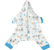 Milk and Bread Pattern Pet Hoodie Jumpsuits for Dogs(XS-M)