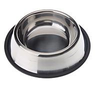 In acciaio inox anti-slittamento Ciotola per gatti cani (XS-XXL)