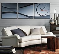 moderno reloj de pared escénica en la lona 3pcs k0008