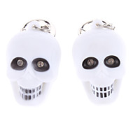 Skull Keychain with Light and Sound Effect (2-Pack)