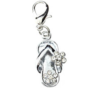 Rhinestone Decorated Flowery Slipper Style Collar Charm for Dogs Cats