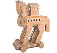 DIY Paper 3D Puzzle Trojan Horse (75pcs, No.2802-G)