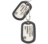 U.S.ARMY Double-faced Gasket Necklace-Matte Surface, Glaze