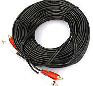 2-2 Interface Cable RCA chapados en oro (15 m)
