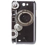 Retro Design Radio Pattern Hard Case voor Samsung Galaxy Opmerking 2 N7100