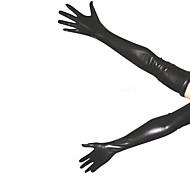 Guantes negros brillantes metálicos (2 Piezas)