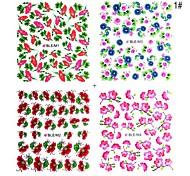4pcs Sticker 2D Nail Autre
