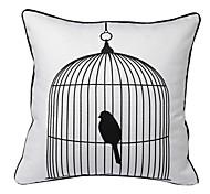 oiseau en cage taie d'oreiller décoratif