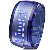 Relógio LED (Azul Escuro)