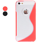 S Shape TPU Hard Case for iPhone 5/5S (Assorted Colors)