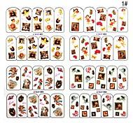4pcs 2D Other Flower Nail Sticker