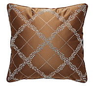 Classic Shiny Plaid Decorative Pillow Cover