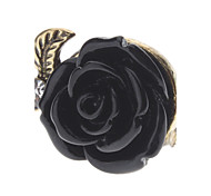 Z&X®  Vintage Style Black Rose Ring