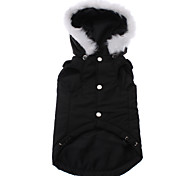 Dog Hoodie Black Dog Clothes Winter Solid