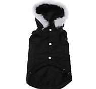 Собаки Толстовки Черный Одежда для собак Зима Однотонный