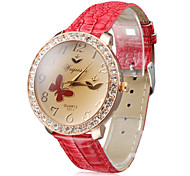 Damen Quartz Band Vintage Rot