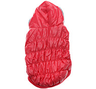 Lovely and Warm Down Coat with Hoodies for Dogs Cats (Pink,XS-XL)