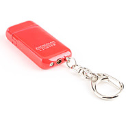 Keychain Fluorescence Color Metal Gas Lighter with Grinding Wheel (Random Color)