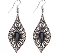 Z&X®  Horse Eye Shape Black Gem Earrings