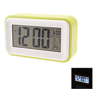 "Touch Sensor 4.5"" Backlit Digital Alarm Clock Calendar Thermometer (3xAAA, Assorted Colors)"