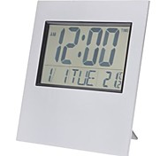 "6"" LCD Desktop/Wall-Mounted Digital Alarm Clock Calendar Thermometer Timer (2xAA)"