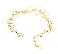 Dull polnischen Bead Ring vergoldet Bracelace