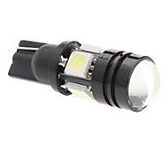 T10 2W 4x5050 SMD White Light LED Bulb for Car Signal Lamp (12V)
