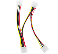 Eins bis Drei DB 4pin IDE Power Kabel (15 cm)