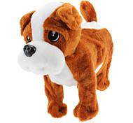Singing and Dancing Toy Walking Plush Puppy (3xAA, Assorted Color)