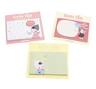 Lovely Girl Pattern 50 Sheets Removable Adhesive Paper (Random Color)