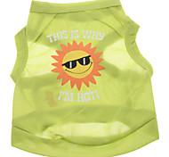 Cani T-shirt - Estate Verde - di Terylene - XS / M / S / L