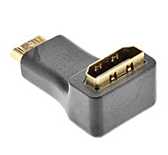 Mini HDMI Male to HDMI Female Rotatable Adapter for Samsung Galaxy S3 I9300 and Others