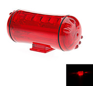 Red ABS 5 Super Bright LED/4 Flashing Mode/Waterproof Bicycle Safety Light with 2 AAA Batteries