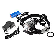UniqueFire HD003 3-Mode Cree XML-U2 LED Rechargeable Headlamp (1200LM, AC Charger + Battery Pack)