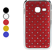 Lattice Pattern Hard Case with Shining Rhinestone for Samsung S6802