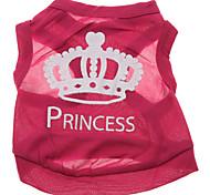 poliéster coroa da princesa padrão colete para cães (rose, xs-L)
