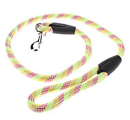 Colorful Tough Nylon Leash with Rubber Handle (Assorted Color)