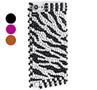 Stripe Pattern Hard Case with Shining Rhinestone for iTouch 5 (Assorted Colors)