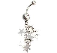Women's Star Diamond Stainless Steel Navel Ring