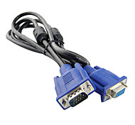 Male to Female VGA Cable with Double Magnetic Loops (20 cm)