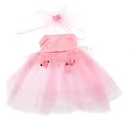 elegante rosa a vita alta abito da sposa voile con il fiore tenia per i cani