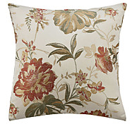 Country Floral Polyester Decorative Pillow Cover