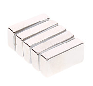 5-Pack Super-Strong Rare-Earth RE Ímãs (20x10x5mm)